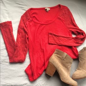 Lucky Brand Long Sleeve Knit Top Size L